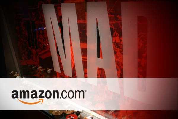 Chances are its fresh on your mind because you've been buying many of your holiday gifts online. But in terms of its stock, Cramer says, you can't ignore Amazon's accelerated growth, or, in English, the fact that Amazon will grow earnings faster in 2010 than it did in 2009. Cramer thinks the earnings estimates for Amazon are way too low, especially after a great Cyber Monday this year. That means the stock could head much higher.