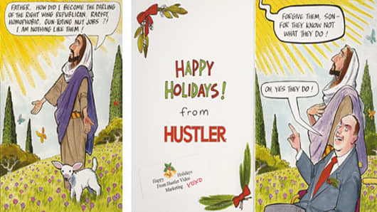Hustler's 2009 Holiday Card