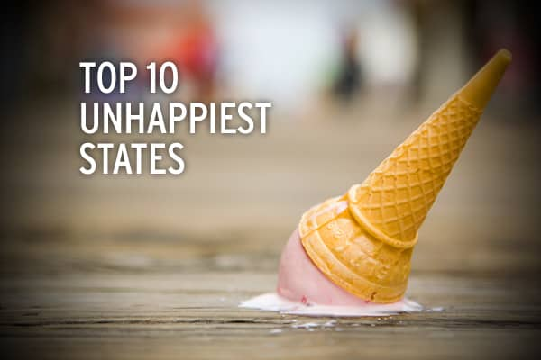 As it turns out, some of the highest income states are among the unhappiest, according to a recent study by economists Andrew J. Oswald and Stephen Wu, of the University of Warwick and Hamilton College, respectively.