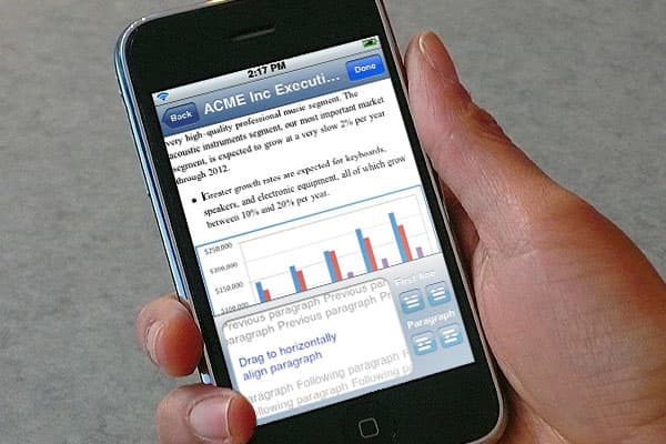 Mobile office software, including Microsoft Word, PowerPoint, iWork and more. Business Quickoffice $9.99 iPhone OS 3.0 and later, iPod Touch