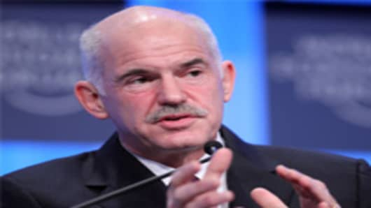 The former Greek Prime Minister, George Papandreou