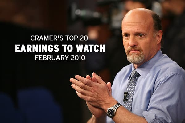 With the economy on the mend, the next few earnings seasons are set to give investors a good perspective on the trajectory of the overall economy, and individual company reports can do the same for specific segments of the market. As earnings season comes to its midway point, Cramer has put together a list of 20 February 2010 earnings reports to watch; suggesting that if you pay close attention to these companies, you'll get a good handle on both the sector they represent and the overall health