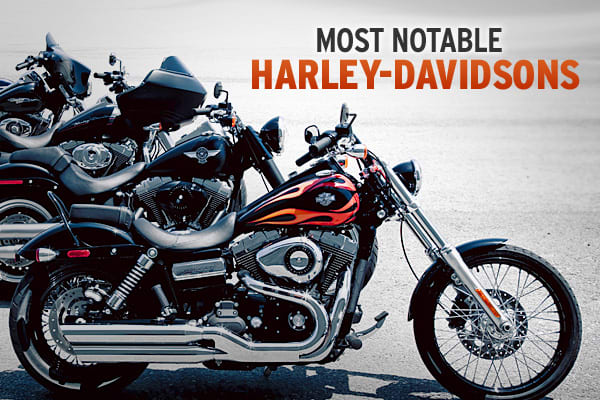 Today, when you think of a Harley-Davidson motorcycle - chrome, a growling engine, sleek lines and comfort comes to mind.  The first Harley-Davidson was a basic bicycle with an engine on it.  It took years for Harley to acquire its reputation, perfection and celebrity status.  Harley-Davidson was founded in 1903 by William S Harley, Arthur Davidson, Walter Davidson and William A. Davidson who were dedicated to making their business a success.  We asked the Harley-Davidson Museum which motorcycle