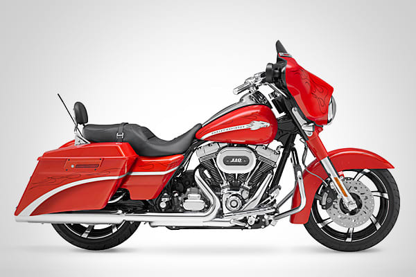 MSRP:  $30,999Estimated Units:  3,500Speed:  @110 mphThe Harley-Davidson CVO Street Glide is a limited-production version of the popular Harley-Davidson hot-rod bagger. Powered by the largest-displacement V-Twin engine offered by Harley, this potent touring bike is loaded with sparkling chrome, electrifying paint and fresh custom-styling.