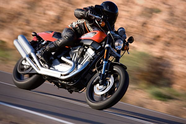 MSRP: $10,799Estimated Units: Not availableSpeed: @100 mphHere's a cycle designed to boost adrenalin levels on roads and highways around the world. Influenced by the design of the successful Harley-Davidson XR-750 motorcycles, the XR 1200 features top street performance and handling. It has the 1200 cc Evolution V Twin Engine.