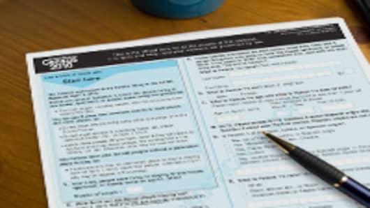 2010 US Census form