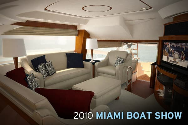 The Miami International Boat Show is one of the four largest boat shows in the world, and its timing at the start of the main selling season makes it a bellwether for how the industry will perform in a given year, according to the National Marine Manufacturers Association (NMMA) trade group. Though boats are more affordable than ever at the show – thanks to a buildup of inventory and manufacturers offering more features as options – there are still plenty of luxury boats up for grabs.Following i