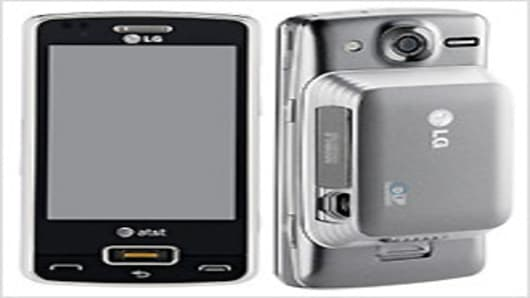 The LG Expo phone with the optional mobile projector.