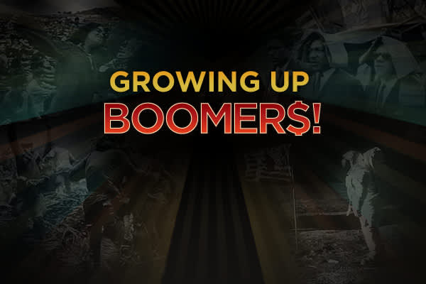 Boomers. They're part of the most significant demographic event in American history... a population explosion that rocked the nation between 1946 and 1964. They remember hula hoops, coonskin caps and have lived through a hurricane of social change. Today, this largest and richest generation in history controls the US Presidency and Congress. And three quarters of fortune 500 CEOs are baby boomers. They are at the top, just as financial bottom has fallen out of many of their dreams. Here we take