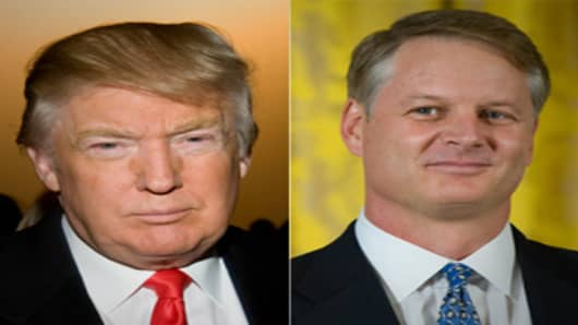 Donald Trump and John Donahoe