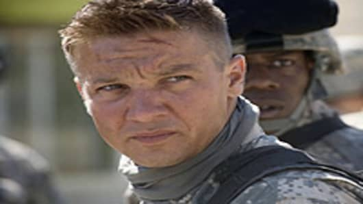 "Jeremy Renner in a scene from ""The Hurt Locker""."