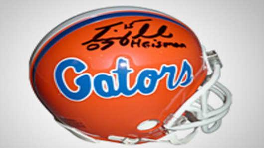 """Tim Tebow Autographed Florida Gators Mini Helmet w/ """"07 Heisman"""""""