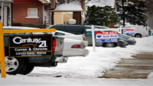 Foreclosures signs  in Detroit