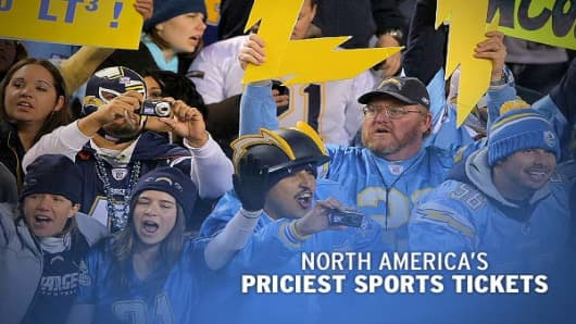 "Across the four major American professional sports leagues - NFL, NBA, MLB and NHL - which teams charge highest average ticket prices?, a publisher of sports marketing and sponsorship information, compiles average ticket prices across major North American sports in their annual ""Fan Cost Index."" This index monitors how much it costs to be a fan at a game for individual teams, from ticket prices and parking fees to stadium concessions.As you may expect, NFL tickets are, on average, more expensive"