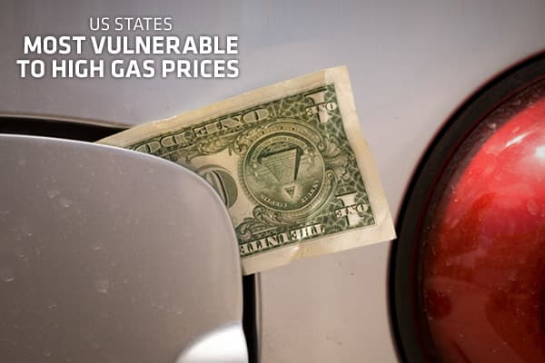 When gasoline prices soar, many consumers have few choices but to suck it up and pay the prices at the pump. But which states are most vulnerable to gasoline prices? The  (NRDC), a national environmental action organization, has identified the states whose residents would be hit the hardest by rising gas prices. To develop the rankings, the NRDC took the amount of gasoline consumed last year, along with 2009 average price and compared this to the total number of licensed drivers and per capita i