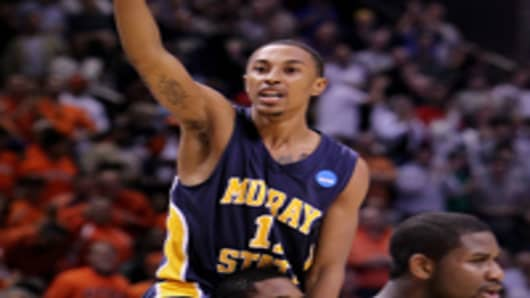Guard Donte Poole #11 of the Murray State Racers.