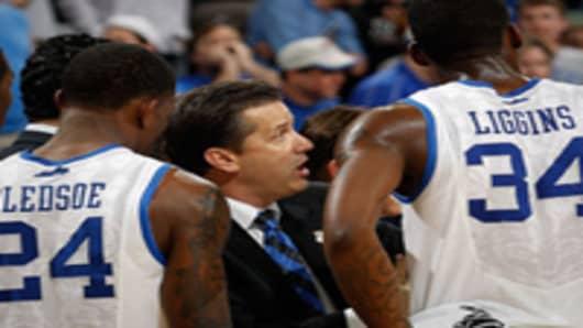 Head coach John Calipari of the Kentucky Wildcats.