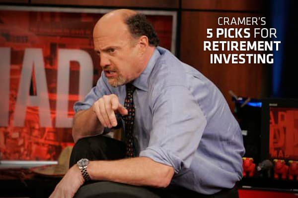 Anyone saving for retirement should take advantage of both 401(k)s and Individual Retirement Accounts, Cramer says, because they enjoy tax-blessed status. Still, he thinks that IRAs are better.That's because your investment choices for 401(k)s are quite limited, while IRAs let you invest any way you'd like. And to best capitalize on an IRA's tax-preferred status, Cramer recommended high-yielding, dividend-paying stocks that offer as much safety as possible. Think master limited partnerships (als