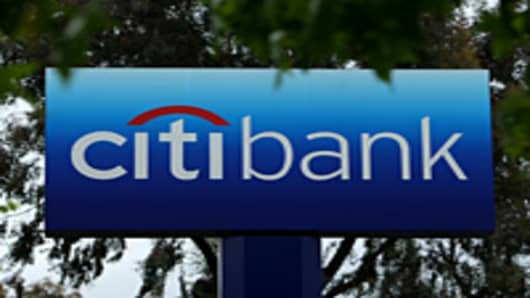Citibank logo on a sign