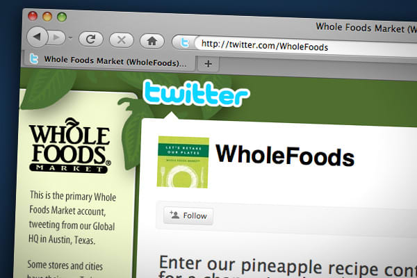 """Whole Foods uses Twitter to go deep on their customers' needs, test concepts, and extend the conversation about values that drive them."""