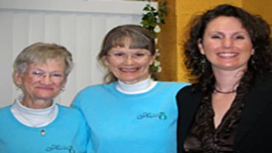 Esther Ziemacki on left, mother Linda Farnsworth in middle, Sierra Neblina on right.