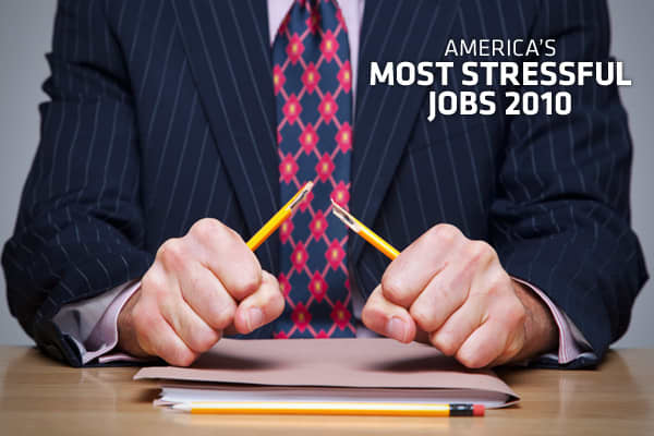 With Americans facing high unemployment, many people with jobs are grateful to get their weekly paychecks, but that feeling alone doesn't take the stress out of the daily grind. To get a sense for the most stressful jobs in America,  looked at 21 different factors that can cause stress on the job, and ranked 200 professions by how significantly these demands factor into an average workday. Factors that weighed into stress levels included work environment, job competitiveness, opportunity for adv