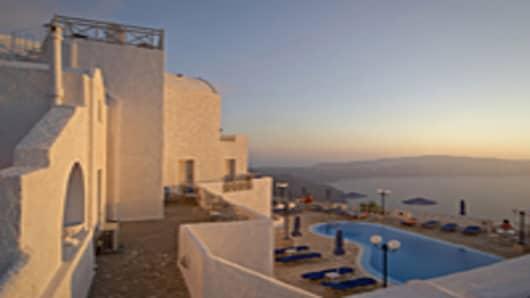 Swimming pool in Greece