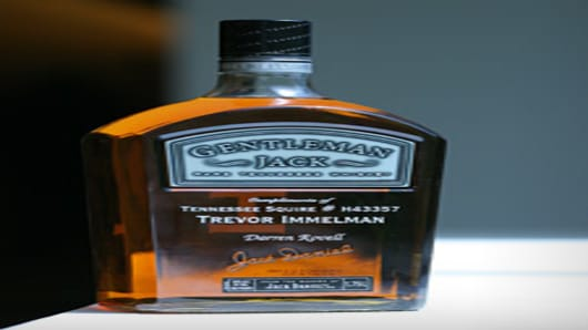 Bottle of Gentleman Jack to Darren Rovell compliments of Trevor Immelman