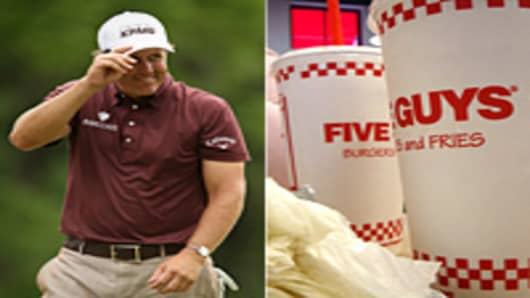 Phil Mickelson and Five Guys