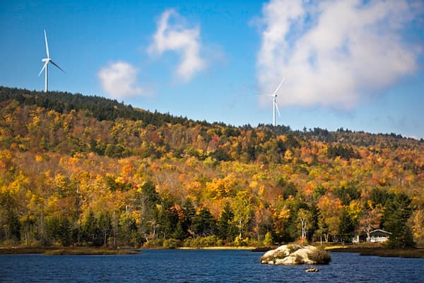 The state's winning quality, according to the report, is its low energy consumption and emissions per capita. New Hampshire's first wind farm (pictured here) opened in the town of Lempster last June. Developed by Iberdrola Renewables, the farm is expected to power 10,000 homes in the state.