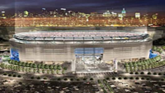 Rendering of the new Giants Stadium