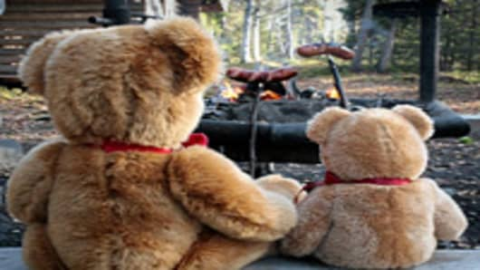 Send your stuffed animal camping with Teddy Tours Lapland.