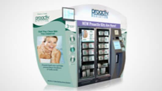 Touch screen vending machine.