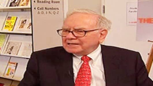 Warren Buffett speaks to CNBC's Becky Quick on June 2, 2010.