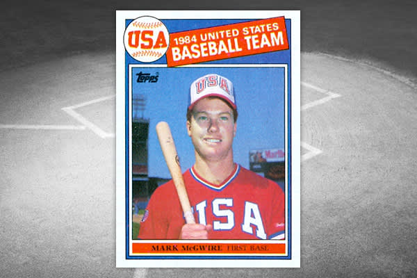 Mint Value: $30 The Olympic team cards were always exciting to get and this one was no exception. What's interesting about this card is that it might have been hotter in the 90s as the business was dying down and McGwire was in the home run chase than it was in the 80s when the card was produced.