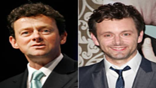 Tony Hayward (L) & Michael Sheen (R)