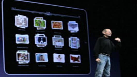 Apple CEO Steve Jobs delivers the opening keynote address at the 2010 Apple World Wide Developers conference June 7, 2010 in San Francisco, California. Jobs kicked off their annual WWDC with a keynote address and announced a new version of the iPhone.