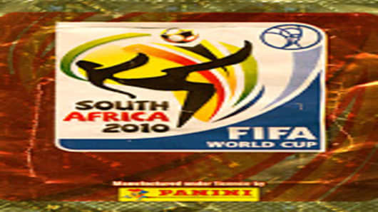 The cover to Panini's 2010 FIFA World Cup sticker packet