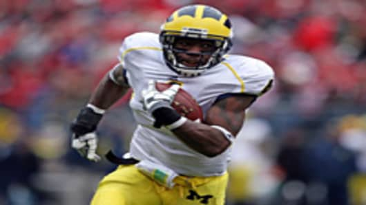 University of Michigan football player