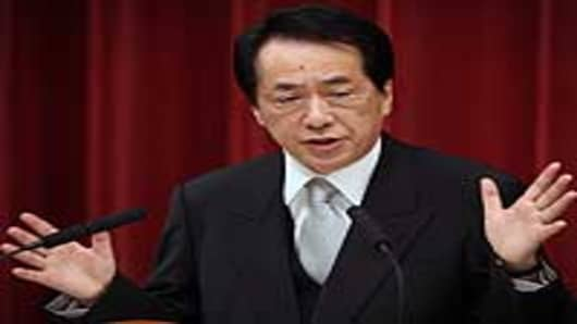 Japan prime minister Naoto Kan