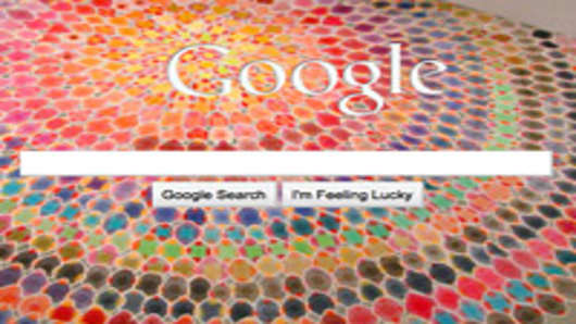 Google's homepage with customizable background