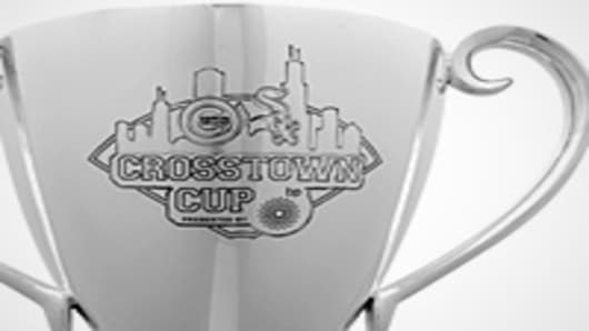 Official trophy of the BP Crosstown Cup.