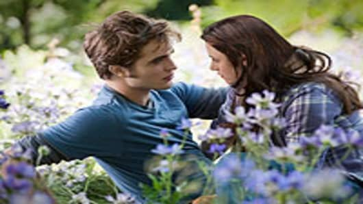 Edward and Bella from Twilight Eclipse.