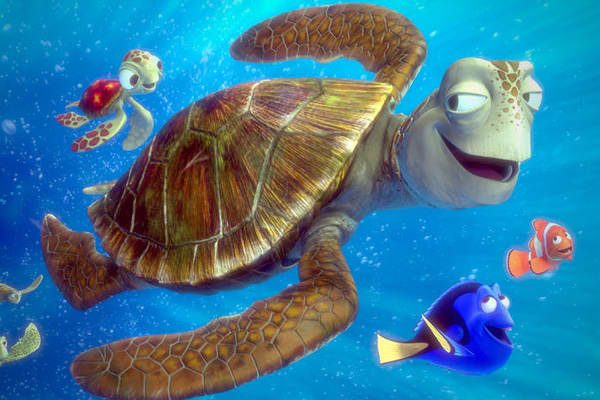 Adjusted Gross: *$447.883 millionUnadjusted Gross: $339.714 millionRelease Date: May 30, 2003Distributor: Buena VistaThe look and feel of the underwater world was essential to Finding Nemo's success.The production crew all visited aquariums, went on diving stints in Monterey and Hawaii, attended study sessions in front of Pixar's own 25-gallon fish tank and even attended a series of in-house lectures from an ichthyologist.Rendering a frame which lasted about 1/24th of a second in the film could