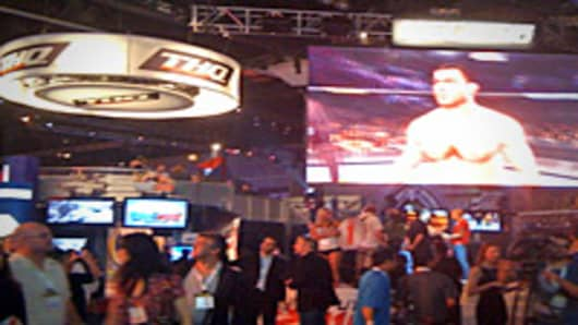THQ's UFC games on display