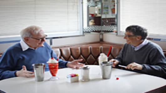 FORTUNE shot Bill Gates and Warren Buffett at the Hollywood Diner in Omaha, where they discussed their plans to raise giving.