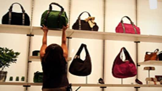 Woman purse shopping