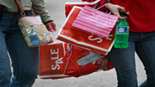 Women with Sale bags