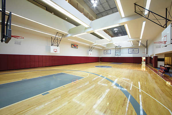 The most luxurious fitness clubs across america for Indoor basketball court cost