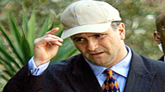 Jack Abramoff leaves the federal courthouse in Miami after sentencing in the SunCruz Casinos fraud case, Florida.
